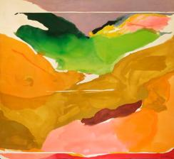 Helen Frankenthaler (American; Abstract Expressionism, Lyrical Abstraction; 1928 –2011): Nature Abhors a Vacuum, 1973. Acrylic on canvas, 103-1/2 x 112-1/2 inches (262.9 x 285.8 cm). National Gallery of Art, Washington, D.C., USA. Image: Helen Frankenthaler Foundation. © Helen Frankenthaler Foundation, Inc.