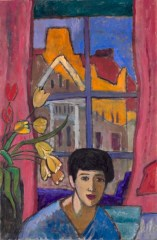 Gabriele Münter (German, Expressionism, 1877–1962): Future (Woman in Stockholm), 1917. Oil on canvas, 97.50 x 63.80 cm (38-3/8 x 25-1/16 inches). Cleveland Museum of Art, Ohio, USA. © Artists Rights Society (ARS), New York / VG Bild-Kunst, Bonn. © This artwork may be protected by copyright. It is posted on the site in accordance with fair use principles.