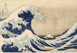 Hokusai, Katsushika (Japanese, Ukiyo-e, 1760-1849): The Great Wave off Kanagawa, c. 1830, 1831. (Series: Thirty-six views of Mount Fuji) Edo period (1615-1868), Color woodblock print. Image: 10-1/4 x 15 inches. Los Angeles County Museum of Art, Los Angeles, California, USA.