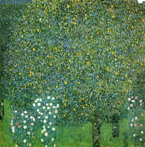 Gustav Klimt (Austrian; Art Nouveau, Symbolism; 1862-1918): Rose Bushes under the Trees (Rosiers sous les arbres), c. 1905.