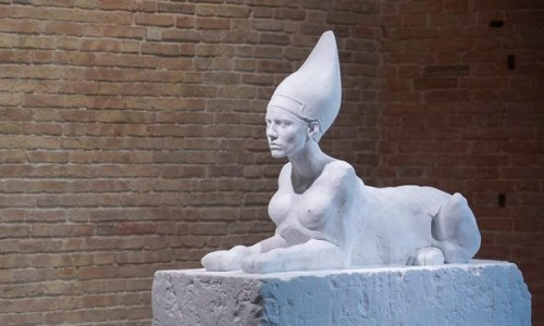 Sphinx by Damien Hirst. Photograph: Miguel Medina/AFP/Getty Images