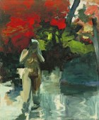 Elmer Bischoff (American, Bay Area Figurative Movement, 1916–1991): Girl Wading, 1959. Oil on canvas, 82-5/8 x 67-3/4 inches (209.8 x 172 cm). Museum of Modern Art, New York, NY, USA. © Estate of Elmer Bischoff. © This artwork may be protected by copyright. It is posted on the site in accordance with fair use principles.
