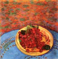 Pierre Bonnard (French, Post-Impressionism, 1867-1947): The Cherries, 1923. Oil on canvas. Private Collection. © Artists Rights Society (ARS), New York/ADAGP, Paris. © This artwork may be protected by copyright. It is posted on the site in accordance with fair use principles.