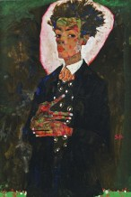 Egon Schiele: Self-Portrait With Peacock Waistcoat, Standing; 1911.