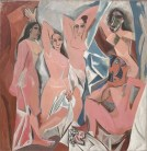 "Pablo Picasso (Spanish, 1881–1973): Les Demoiselles d'Avignon, Paris, 1907. Oil on canvas, 8' x 7' 8"" (243.9 x 233.7 cm). Museum of Modern Art, New York, NY, USA. © This artwork may be protected by copyright. It is posted on the site in accordance with fair use principles."