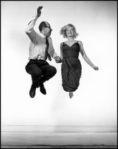 Philippe Halsman (American, 1906–1979): American actress Marilyn MONROE jumping with Philippe HALSMAN, 1959. © Philippe Halsman/Magnum Photos.
