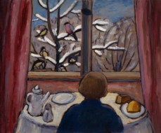 Gabriele Münter (German, Expressionism, 1877-1962): Breakfast of the Birds, 1934. © Artists Rights Society (ARS), New York / VG Bild-Kunst, Bonn. © This artwork may be protected by copyright. It is posted on the site in accordance with fair use principles.