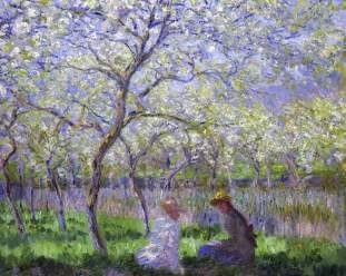 Claude Monet (French, Impressionism, 1840-1926): Springtime (Le Printemps), 1886. Oil on canvas, 64.8 x 80.6 cm. Fitzwilliam Museum, University of Cambridge, UK.