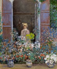 Claude Monet (French, Impressionism, 1840-1926): Camille Monet at the Window, Argenteuil; 1873.