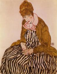 Egon Schiele: Edith Schiele Seated, 1915.