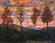 Egon Schiele: Four Trees, 1917.