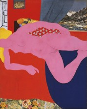 Tom Wesselmann (American, Pop Art, 1931-2004): Great American Nude, 2; 1961. Synthetic polymer paint, gesso, charcoal, enamel, oil, and collage on plywood; 59-5/8 x 47-1/2 inches (151.5 x 120.5 cm). © The Estate of Tom Wesselmann.