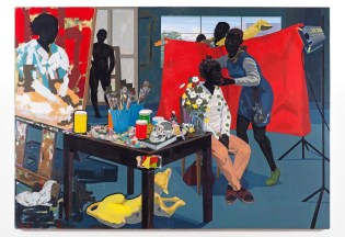 "Kerry James Marshall, Untitled (Studio), 2014. Lent by The Metropolitan Museum. Kerry James Marshall, ""Untitled (Studio),"" 2014. The Metropolitan Museum of Art, New York, NY. © Kerry James Marshall."
