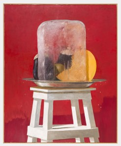 Julio Larraz (Cuban, b. 1944): The Ice, 2001. Oil on canvas, 73 × 59 inches (185.4 × 149.9 cm). Private Collection. © Julio Larraz. © This artwork may be protected by copyright. It is posted on the site in accordance with fair use principles.