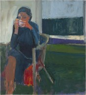Richard Diebenkorn (American, Bay Area Figurative Movement, 1922–1993): Coffee, 1959. Oil on canvas, 57-1/2 x 52-1/4 inches (146.05 x 132.72 cm). San Francisco Museum of Modern Art, San Francisco, California, USA. Image: © San Francisco Museum of Modern Art. © Richard Diebenkorn Foundation. © This artwork may be protected by copyright. It is posted on the site in accordance with fair use principles.