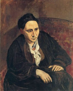 Pablo Picasso (Spanish, 1881-1973): Portrait of Gertrude Stein, 1905–6. Oil on canvas, 39-3/8 x 32 inches (100 x 81.3 cm). Metropolitan Museum of Art, New York, NY, USA. © Estate of Pablo Picasso / Artist Rights Society (ARS), New York.