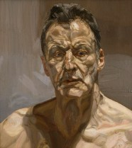 Lucian Freud (German-born British, 1922-2011): Reflection (Self-portrait), 1985. Oil on canvas. Private Collection, Ireland. © The Lucian Freud Archive. Photo: © Lucian Freud Archive.