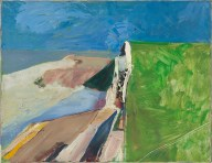 Richard Diebenkorn (American, Bay Area Figurative Movement, 1922–1993): Seawall, 1957. Oil on canvas, 20 x 26 inches (50.8 x 66 cm). Fine Arts Museums of San Francisco, de Young Museum, San Francisco, California, USA. Image: Fine Arts Museums of San Francisco, de Young Museum. © The Richard Diebenkorn Foundation. © This artwork may be protected by copyright. It is posted on the site in accordance with fair use principles.