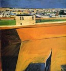 Richard Diebenkorn (American, Bay Area Figurative Movement, 1922–1993): Yellow Porch, 1961. © The Estate of Richard Diebenkorn. © This artwork may be protected by copyright. It is posted on the site in accordance with fair use principles.