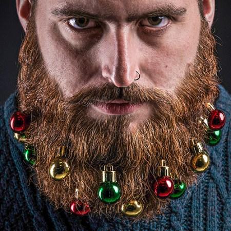 Weihnachtsbaumkugeln für den Bart - Weihnachtsgeschenk für Bartträger