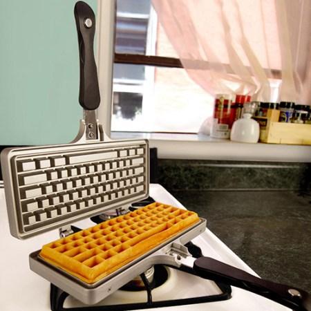 Waffeleisen Tastatur Geek Geschenk für Computerfreaks