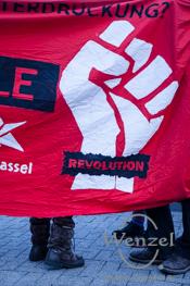 Abschlusskundgebung der Antifa-Demonstration auf dem Alten Markt