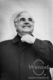 Helmut Kohl - Wahlkampfauftritt //  Domplatz Magdeburg // 6. März 1990