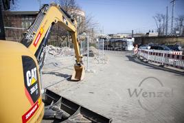 Bauarbeiten zum City-Tunnel Magdeburg