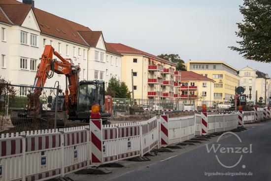 Baustelle Straßenbahntrasse Wiener Straße - Oktober 2015