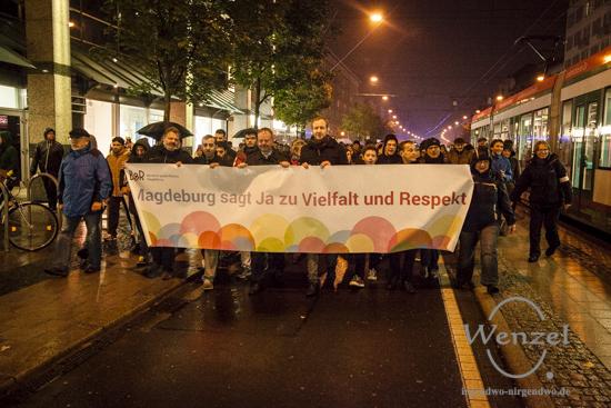 """""""Kundgebung für ein weltoffenes Sachsen-Anhalt"""" - Magdeburg"""