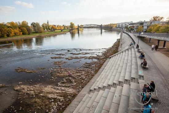 Magdeburg im Herbst - Elbterrassen