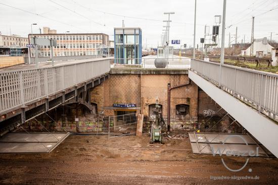 Baustelle City Tunnel Magdeburg - Dezember 2015
