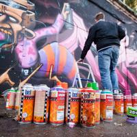 Streetart-Künstler in der Aerosol-Arena - Meeting of Styles