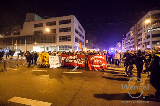 Students For A Future Without Racism - Demonstration in Magdeburg