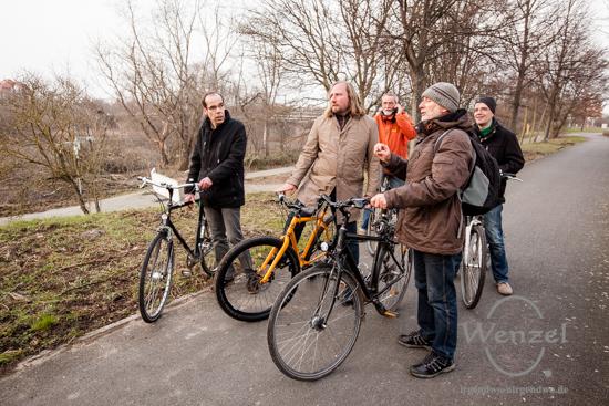 Fahrradtour mit Anton Hofreiter entlang der Elbe