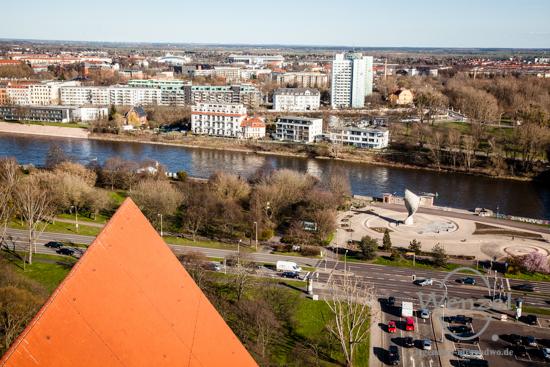 Blick auf Magdeburg - Aussicht vom Südturm der Johanniskirche