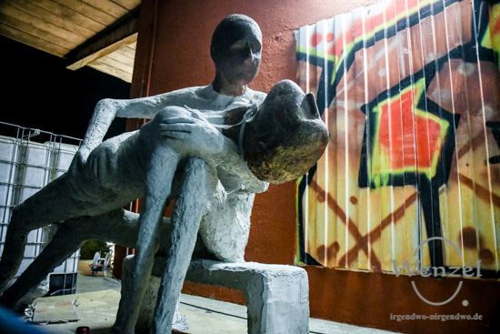 Magdeburger Kulturnacht, Kunst, Q-Hof, Werk 4 –  Foto Wenzel-Oschington.de