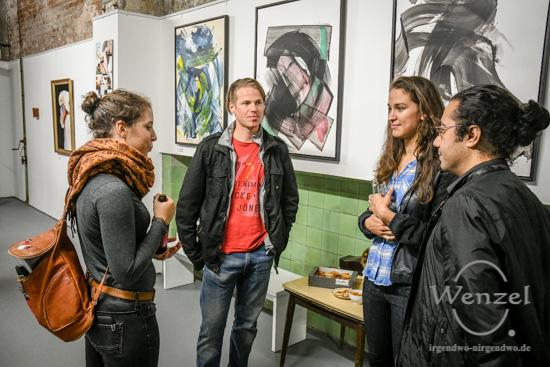 Vernissage, Q.Hof, Kunst, Handwerkerhof, Werk 4, Buckau, Christoph Ackermann, Sari, Fabulasari, Oliver Mössner, Frank Borisch, Tim Höhne –  Foto Wenzel-Oschington.de