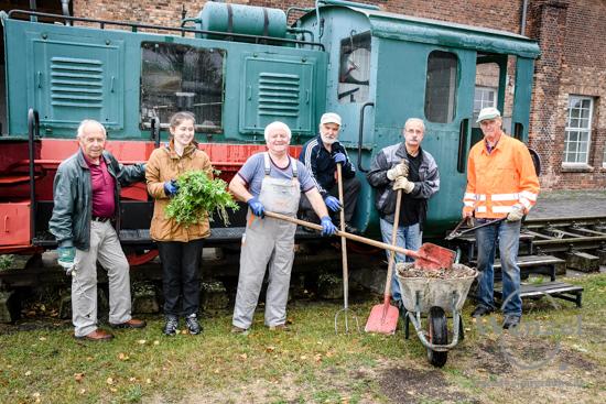 11. Magdeburger Freiwilligentag  –  Aufräumarbeiten im Technikmuseum –  Foto Wenzel-Oschington.de