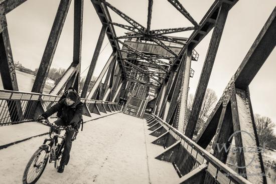 Winterspaziergang, Magdeburg, Hubbrücke –  Foto Wenzel-Oschington.de