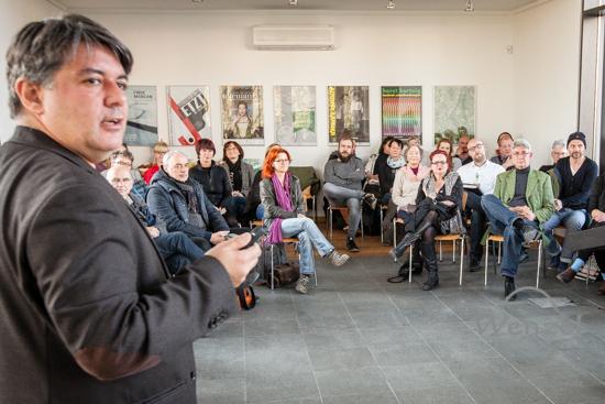 Kulturszene Magdeburg, Ottostadt, Kulturhauptstadt,  Kulturhauptstadt Bewerbung, 2025, Magdeburg, Kubus 2025, Tamás Szalay, Kulturhauptstadtbüro, Workshop, Vernetzung –  Foto Wenzel-Oschington.de