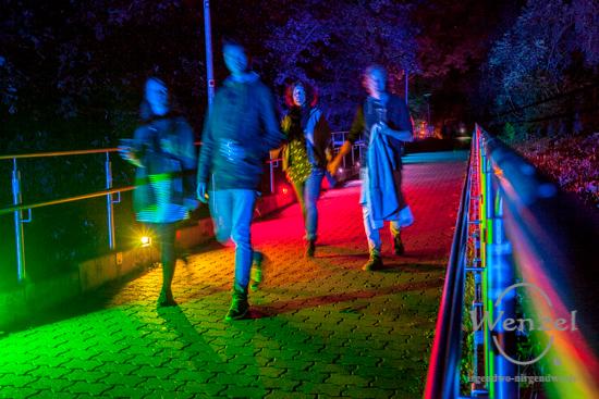 ECOC 2025, European Capitals of Culture, Kulturhauptstadt Magdeburg, Magdeburg, Magdeburg 2025, Ottostadt, Water Walk, Nacht, Kunst, Musik, Performance, John Cage, Kloster Unser Lieben Frauen, Gesellschaftshaus, Ambitus –  Foto Wenzel-Oschington.de