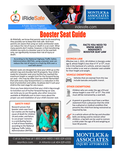 Booster Seat Requirements Massachusetts