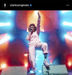 Clarks Original endorses Lila Ike's Clarks fashion
