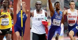 Five finalists shortlisted for the Male World Athlete of the Year