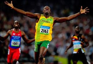 The Olympic sprint exploits of the world's fastest man, Usain Bolt, among best performance
