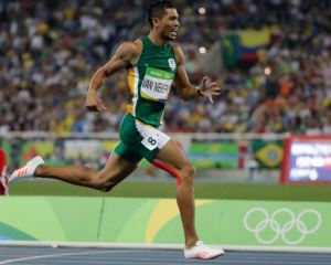 Olympics and World 400-metre record-holder Wayde van Niekerk win in Bloemfontein