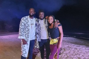 Beenie Man performs for Dwayne Wade and Gabriel Union