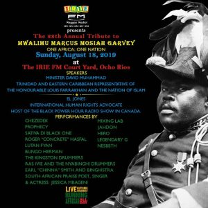 Jamaicans celebrate Marcus Garvey's birthday today; Irie FM to host annual tribute tomorrow