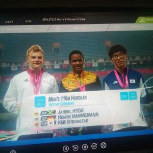 Two gold medals for Jamaica at Youth Olympic Games today